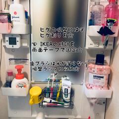 レック ステンレス歯ブラシホルダー吸盤 4903320088108   レック(歯ブラシ立て)を使ったクチコミ「洗面台を綺麗に収納しなおした☆ . 」
