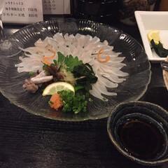 ごはん 夫婦で広島 穴子のお刺身は絶品です^^(2枚目)