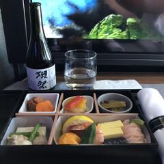 ごはん 機内での夕食