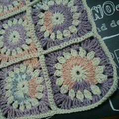 編み編み♥/ミンネにて販売中/グラニースクエア/ハンドメイド