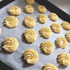 手作りクッキー/絞りクッキー/ホームメイド/3時のおやつ 今日のおやつは、絞りクッキー🎶