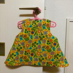 女の子/ワンピース/チュニック/ベビー服/手芸/ハンドメイド ベビー服 チュニックワンピースを作りまし…(3枚目)
