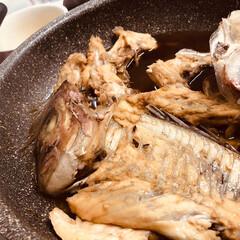 晩ごはん/煮付け/鯛/魚料理/刺身/あら汁 前日、主人が釣って来た鯛を調理しました♪…