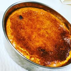 ベークドタイプ/チーズケーキ/ホームメイド/おやつ作り ベークドチーズケーキを焼きました♡