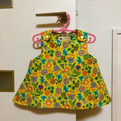 女の子/ワンピース/チュニック/ベビー服/手芸/ハンドメイド ベビー服 チュニックワンピースを作りまし…