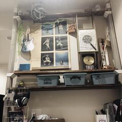 ポスターのある部屋/ミスチルポスター/ラブリコ棚/ラブリコDIY/ラブリコ/PANDA@factoryさんのア.../... 「PANDA@factory」さんのポス…