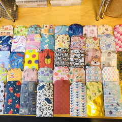 ポチ袋/千代紙/デザインペーパー/折り紙/ダイソー/セリア/... 折り紙でポチ袋🧧作ったよ♪  溜まりに溜…