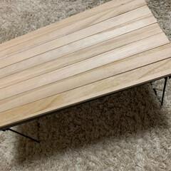 セリア/ミニテーブル/ピクニック/フェス/すのこ/100均/... LIMIAで見たミニテーブルを作りました…(8枚目)
