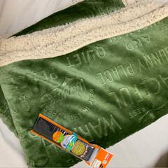 足元/防寒/防寒対策/シーツ/敷きパッド/雑貨 ブランケットを使ってベット用の足元あった…