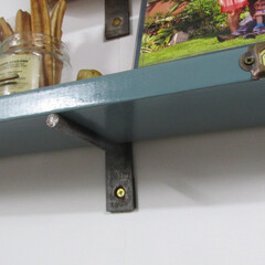 DIY/ヴィンテージ/アンティーク/棚/棚受け金具 インダストリアルな棚(その2) スチール…