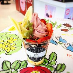 楽しい時間/お出かけ/sweets/スイーツ/Valentineday/バレンタインデー/... お友達と阪神百貨店の 『阪神のいちごとチ…