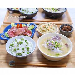 和食/器選び/器で食卓が変わる/器好き/器のある暮らし/うつわ/... * お夕食 𐂐.·˖* *  豆ごはん…