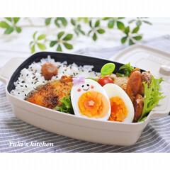 顔弁/ココポットレクタングル/料理/lunchbox/lunch/ランチボックス/... ・ 今日のおべん𐂐.·˖* ・ サラリー…