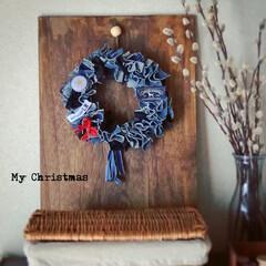 インテリア/Handmade/DIY/暮らし/クリスマスインテリア/クリスマスリース/... * 私の˖◛⁺⑅Ꮋɑԓɗ ɱɑɗℯ Iί…(2枚目)
