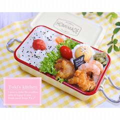 お弁当箱 1段 麺 丼 ミコノス タイトランチ1段 | mykonos(弁当箱)を使ったクチコミ「・ 今日のおべん𐂐.·˖* ・ 唐揚げ弁…」(1枚目)