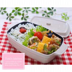 ココポットレクタングル/和弁当/お弁当作り/お弁当のおかず/お弁当箱/お弁当おかず/... ・ 今日のおべん𐂐.·˖* ・ ・ お盆…