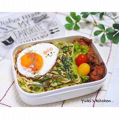 麺弁当/顔弁/lunchtime/lunchbox/lunch/ランチタイム/... ・ 今日のおべん𐂐.·˖* ・ まぜそば…