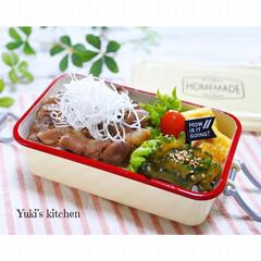 お弁当箱 1段 麺 丼 ミコノス タイトランチ1段 | mykonos(弁当箱)を使ったクチコミ「・ 今日のおべん𐂐.·˖* ・ スタミナ…」