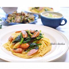 夕食タイム/夕食おかず/夕食/ふたりごはん/夕飯メニュー/夕飯風景/... * お夕食 𐂐.·˖* *  ウインナ…