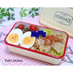 お弁当箱 1段 麺 丼 ミコノス タイトランチ1段 | mykonos(弁当箱)を使ったクチコミ「・ 今日のおべん𐂐.·˖* ・ 昨日の夕…」