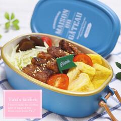 サブヒロモリ ブランシュクレ オーバルタイトランチボックス 1段 500mL ホワイト お弁当箱(弁当箱)を使ったクチコミ「・ 今日のおべん𐂐.·˖* ・ 豚肉のス…」