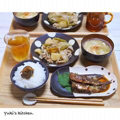魚料理/器で食卓が変わる/器使い/器のある暮らし/器好き/うつわ日和/... * お夕食 𐂐.·˖* * ❋ 我が町の…