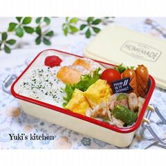 お弁当箱 1段 麺 丼 ミコノス タイトランチ1段 | mykonos(弁当箱)を使ったクチコミ「・ 今日のおべん𐂐.·˖* ・ 変わり映…」