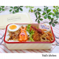 お弁当箱 1段 麺 丼 ミコノス タイトランチ1段 | mykonos(弁当箱)を使ったクチコミ「・ 今日のおべん𐂐.·˖* ・ 今日は十…」