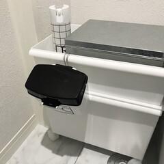 トイレ収納/生理用品/サニタリー/トイレ掃除 以前アイデアにてご紹介したトイレの収納で…