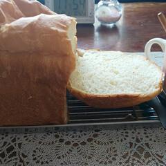 食パン/ホームベーカリー/モーニング おはよう☀ございます。 久しぶりにパン焼…