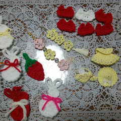 ハンドメイド/猫/にゃんこ同好会/スイーツ/ダイソー/わたしのお気に入り 春色❤️黄色いドレス❗️ 編み溜めていた…