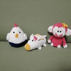 編みぐるみ/至福のひととき/雑貨だいすき 娘とその旦那さんの干支、これからうまれる…