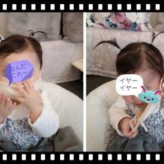 赤ちゃんのお出かけ/最近のコーデ 娘が赤ちゃん用のマスクあるとのことで購入…