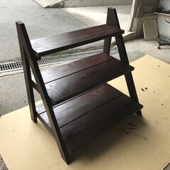 インテリア/DIY/家具/住まい/ハンドメイド/建築 第2弾の投稿です❗️ 杉の足場板を使用し…