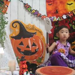 ハロウィン/ハンドメイド/ハロウィンパーティー/お家photo/ママカメラ/DAISO/... ハロウィンパーティー♪おばけなてこわくな…(1枚目)