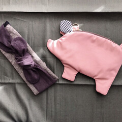 ハンドメイド/ブタさん ブタさんポーチ、ピンクで!とオーダーです…
