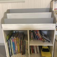 ニトリ/ダイソー/DIY/カラボ/リメイク/子供部屋/... ニトリの2段カラーボックスをダイソーの板…