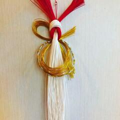 水引/手芸/玄関/ハンドメイド 来年のしめ飾り クリスマスも通り越して早…