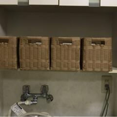 クラフトバンド/収納/雑貨/ハンドメイド/暮らし/節約 洗面所の整理に毎日コツコツ編んだ籠 一つ…(2枚目)