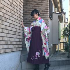 孫/袴/小学校 小学校無事卒業‼️ 大人への階段をのぼり…