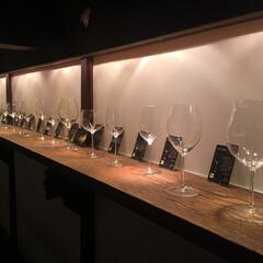 見せる収納 ワイナリーのワイングラス展示🍷