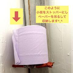 トイレットペーパー収納/トイレ 棚/収納 とっても簡単に作れるトイレットペーパー空…(8枚目)