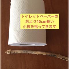 トイレットペーパー収納/トイレ 棚/収納 とっても簡単に作れるトイレットペーパー空…(3枚目)