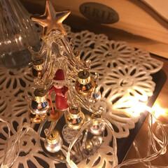 オーナメント/ミニツリー/LEDライト/冬支度/インテリア/フェアリーライト/... 彼から去年のクリスマスにお菓子と一緒にも…