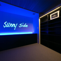 スタジオ/ペアガラスサッシ/防音/造作/間接照明 一転してクールな印象のスタジオは、著名な…