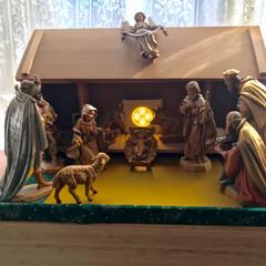 木箱アレンジ/クリスマス/風景/DIY/100均
