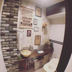 トイレリフォーム/トイレ/フォロー大歓迎/DIY/100均/ダイソー/... お気に入りだったトイレを解体😭 入り口と…