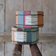 雑貨屋さん/リメイク雑貨/リメ缶/リメイク/雑貨/ハンドメイド/... あの色この色  鯖缶バージョン  板の色…