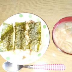 料理写真/自分流レシピ 「今日のランチ」  #納豆とにんにくチャ…
