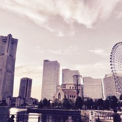 観覧車/おでかけ/ランドマークタワー/横浜/風景/みなとみらい/... 初フォトです! これからよろしくお願いし…